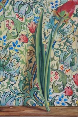 """""""Tulpe"""" Acryl auf Leinwand, 12x18cm, 2012"""