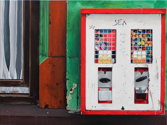 kaugummiautomat weiß rot
