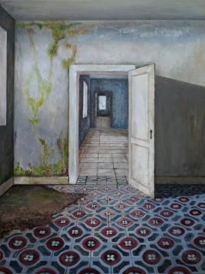 Carina KLein, Her Rooms, 40 x 30 cm, Acryl auf Holz 2016