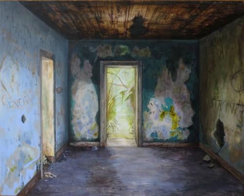 Carina Klein, A House In Carcosa, 40 x 50 cm, Acryl auf Holz, 2015