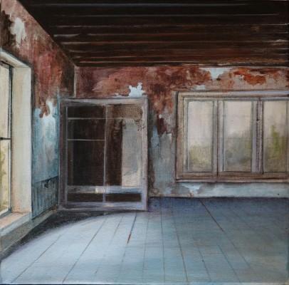 Carina Klein, empty wardrobe, 30 x 30 cm, Acryl auf Leinwand, 2015