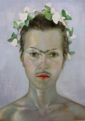 """Homage à Frida Kahlo"", Acryl auf Leinwand, 140 x 100 cm, 2012"