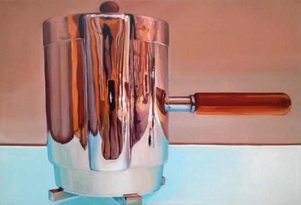 """""""Kaffeekanne"""" Acryl auf Leinwand, 125x180cm, 2013"""