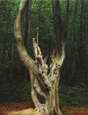 """""""KopfbucheIII"""", Acryl auf Leinwand, 30x24cm, 2013"""