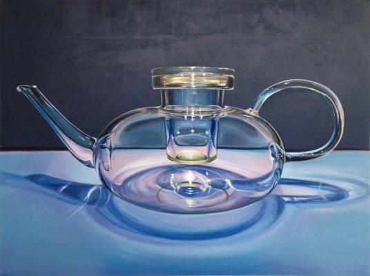 """""""Teekanne"""" 2013, Acryl auf Leinwand, 150 x 200 cm"""