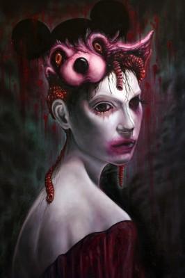 """""""Mouse"""" 2013, Öl auf Leinwand, 80x60cm"""