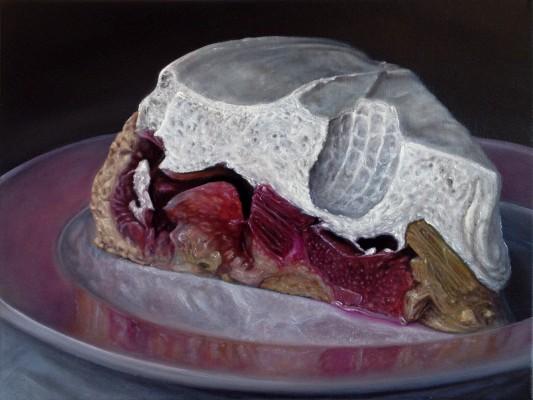 """""""Mutterkuchen"""" 2013, Öl auf Leinwand, 30x40cm"""