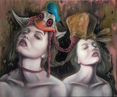 """""""Twins"""" 2014, Öl auf Leinwand, 50x60cm"""