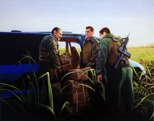 o.T. 2014, Acryl auf Leinwand, 40x50cm