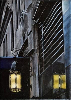 """Lampe"" Acryl auf Leinwand, 18 x 13 cm, 2014"