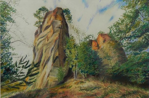 Harz Pastell und Kohle