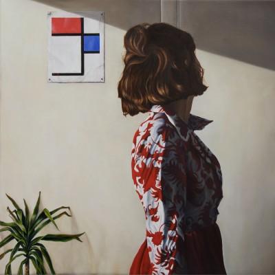 Komposition mit Komposition 2 mit Blau und Rot
